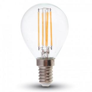 LED Крушка - E14, 4W, P45, Бяла светлина