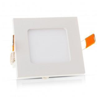 LED премиум панел - 3W, квадратен модул, топло бяла светлина