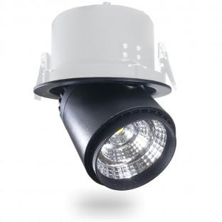 LED Луна - 25W, COB чип, Променящ се ъгъл, Черно тяло, Топло бяла светлина