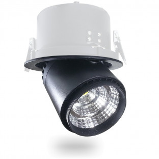 LED Луна - 25W, COB чип, Променящ се ъгъл, Черно тяло, Бяла светлина