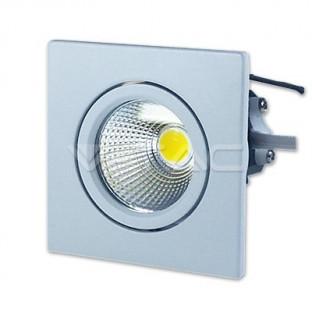 LED Луна - 3W, COB чип, Бяла светлинао тяло, Квадратен, Бяла светлина