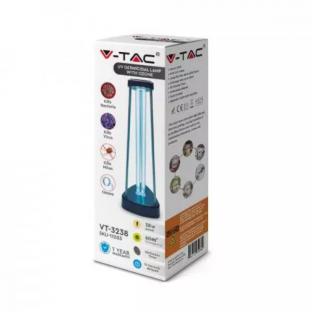 UV-C бактерицидна антивирусна лампа с озон за 60м2 - 38W - 12