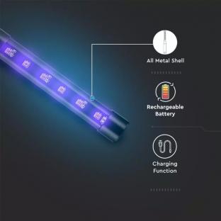 Мини преносима UV-C лампа за дезинфекция - 5
