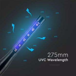 Мини преносима UV-C лампа за дезинфекция - 6