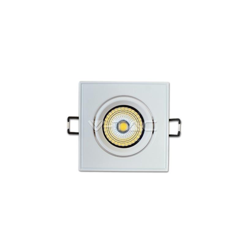 LED Луна – 5W, COB чип, Квадратен, Регулируем, Бяла светлинао тяло, Бяла светлина светлина
