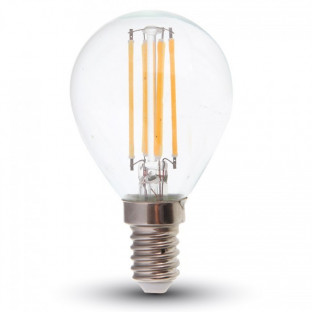 LED Крушка - E14, 4W, P45, Димируема, Топло бяла светлина