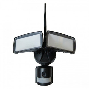 LED Floodlight with camera - 18W, WiFi, Sensor, White light, black body