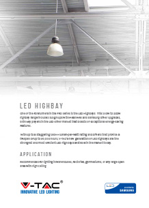 Samsung LED индустриално осветление