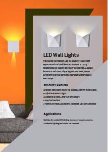 LED  стенно осветление